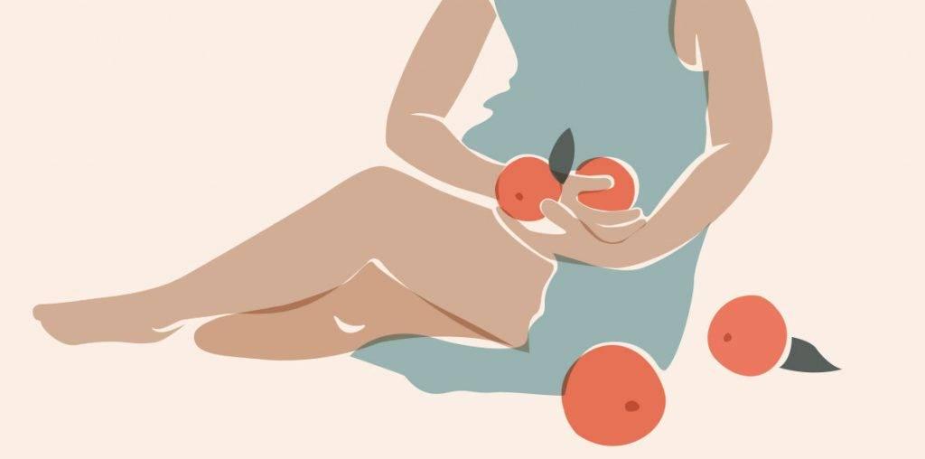 fertilité femme oranges